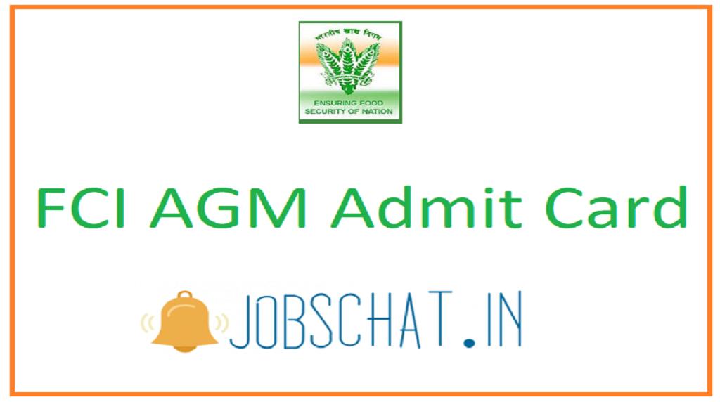 FCI AGM Admit Card
