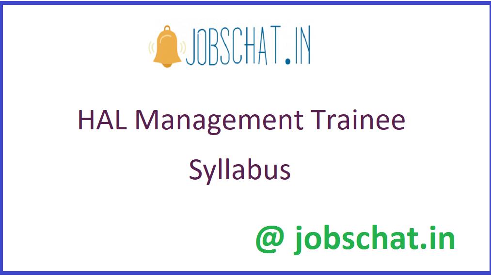 HAL Management Trainee Syllabus