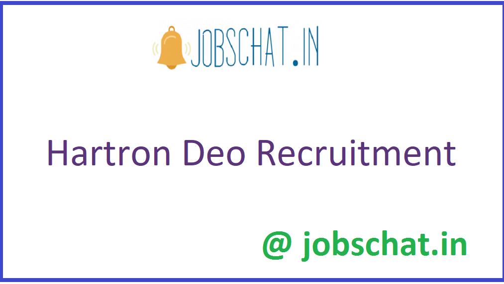 Hartron DEO Recruitment