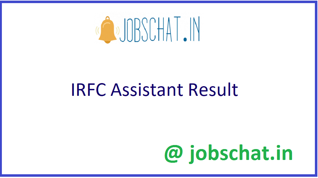 IRFC Assistant Result