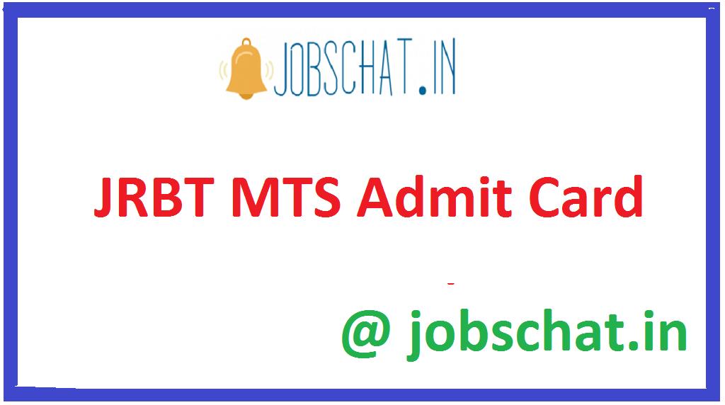 JRBT MTS Admit Card