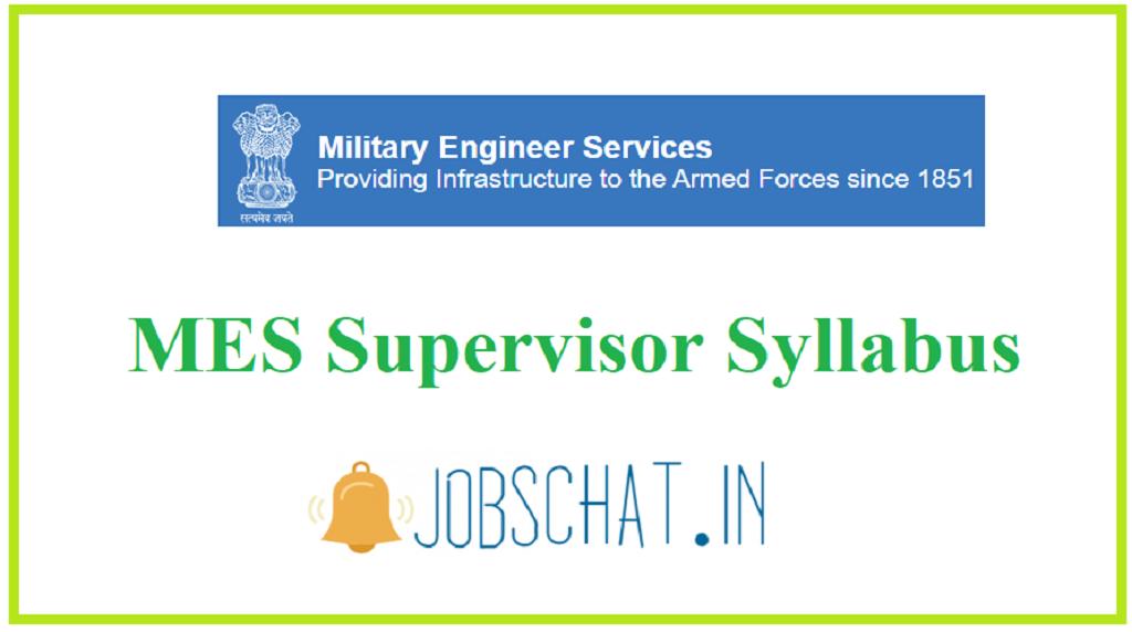 MES Supervisor Syllabus