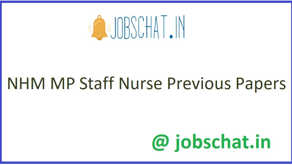 NHM MP Staff Nurse Previous Papers