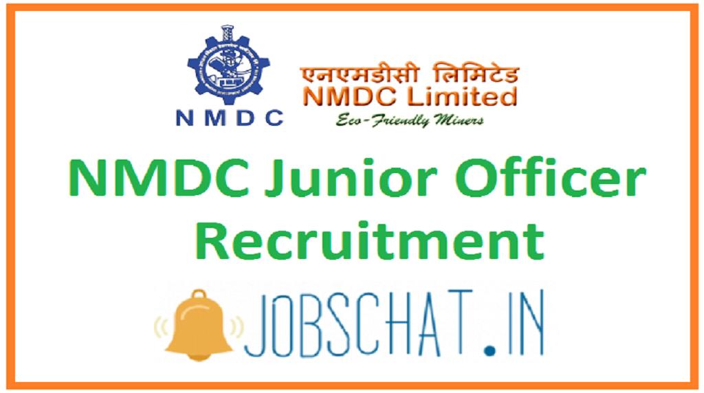 NMDC Junior Officer Recruitment