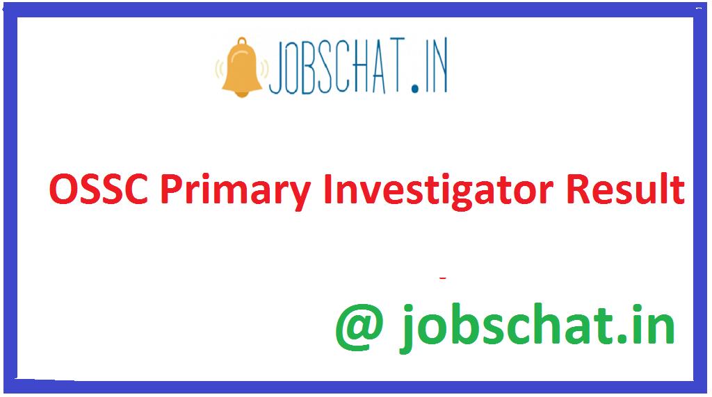 OSSC Primary Investigator Result