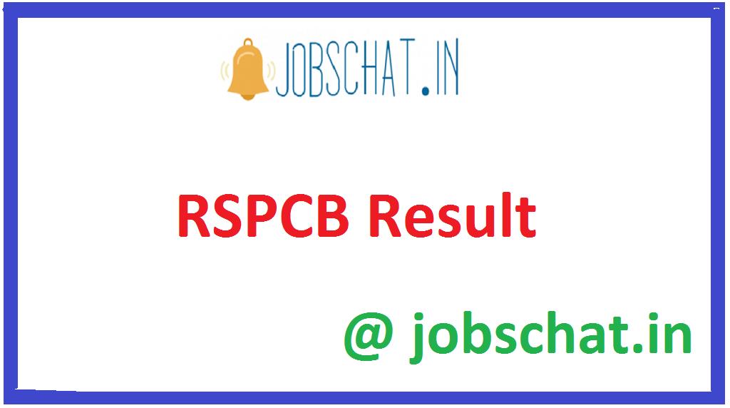 RSPCB Result