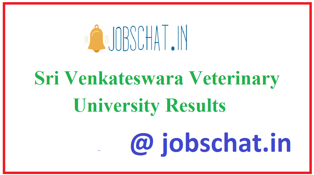 Sri Venkateswara Veterinary University Results