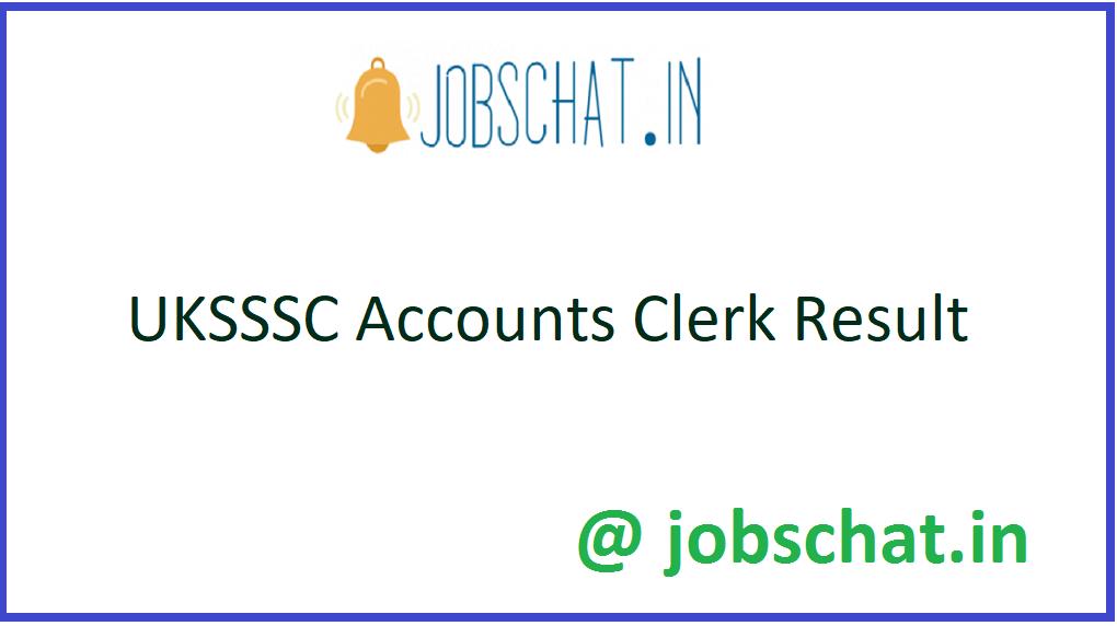 UKSSSC Accounts Clerk Result