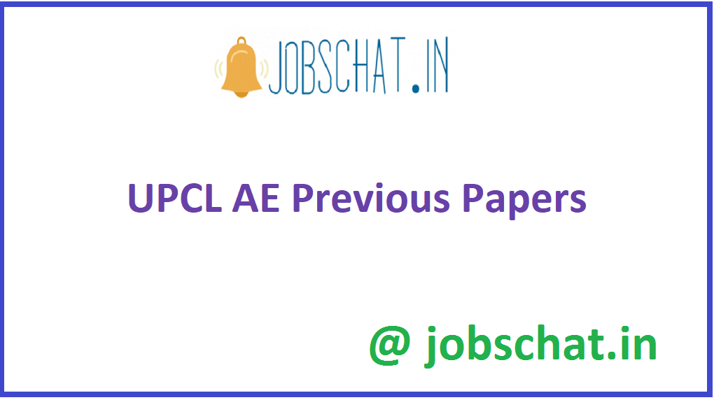 UPCL AE Previous Papers