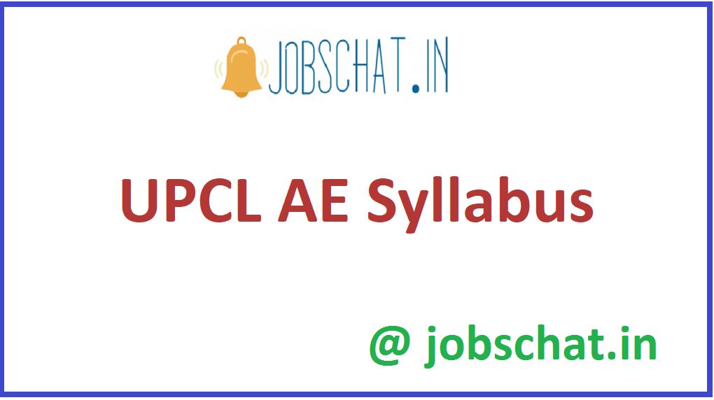 UPCL AE Syllabus