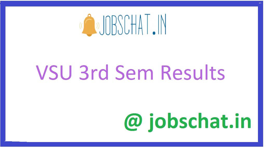 VSU 3rd Sem Results