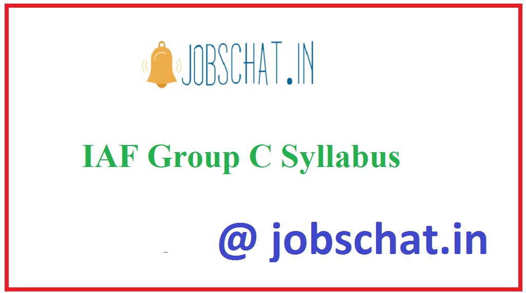 IAF Group C Syllabus