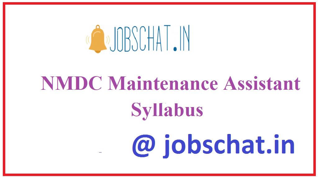 NMDC Maintenance Assistant Syllabus