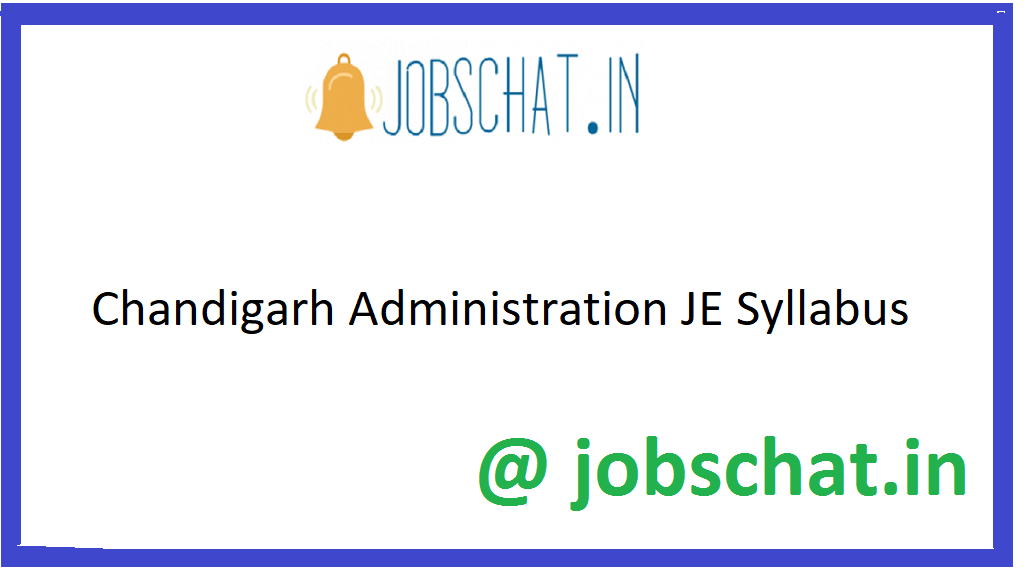 Chandiagrh Administration JE Syllabus