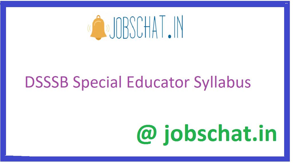 DSSSB Special Educator Syllabus