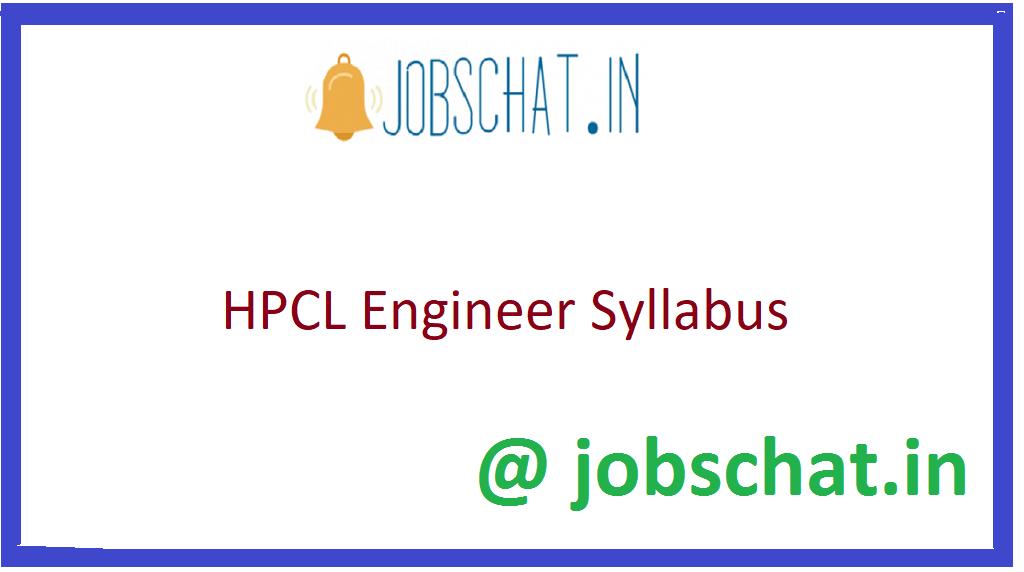 HPCL Engineer Syllabus