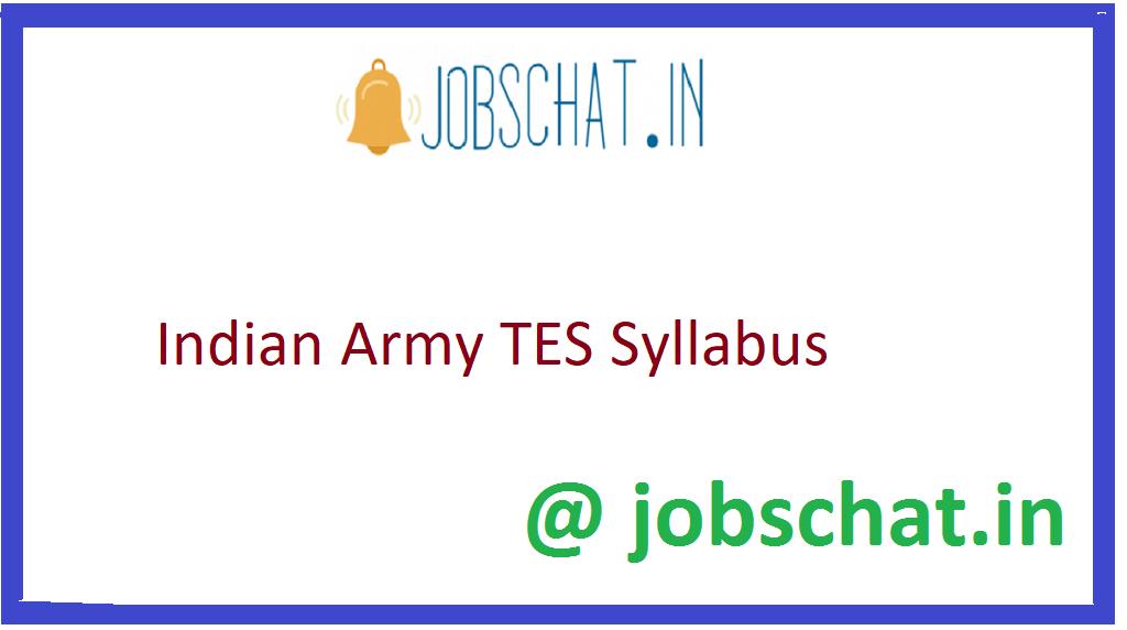 Indian Army TES Syllabus