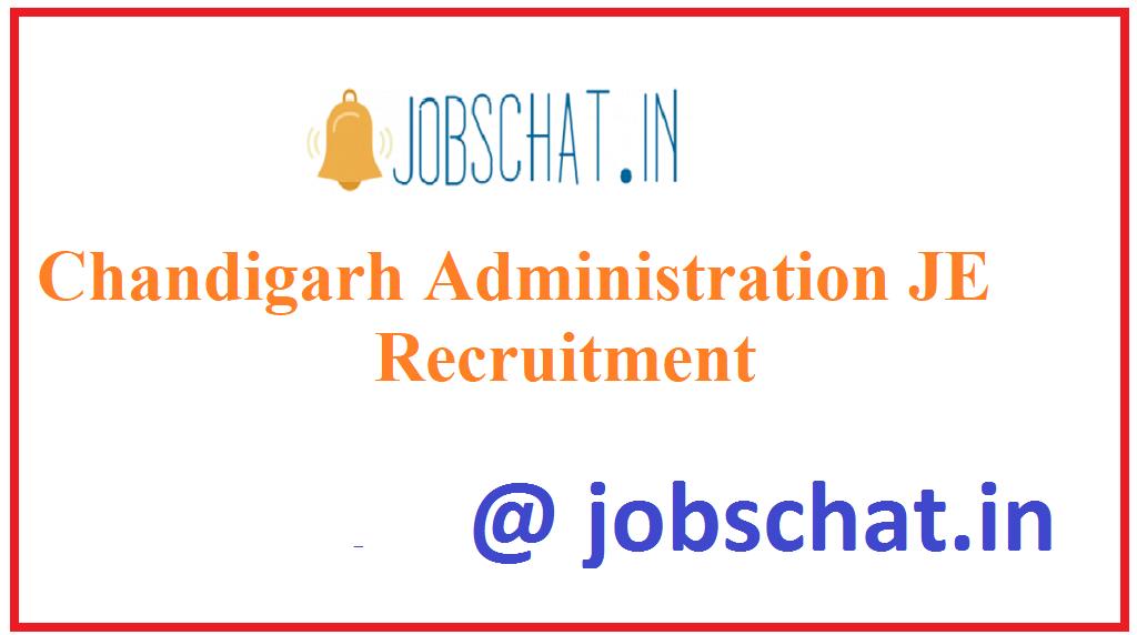 Chandigarh Administration JE Recruitment