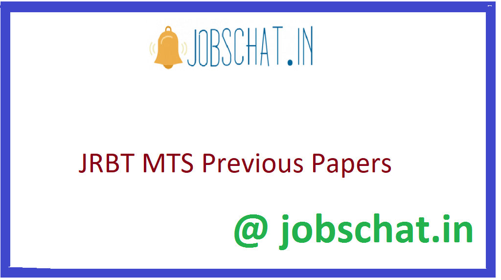 JRBT MTS Previous Papers