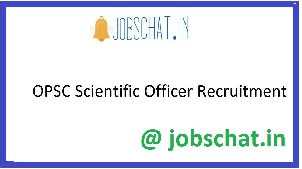 OPSC Scientific Recruitment