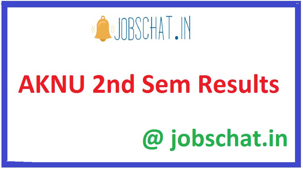 AKNU 2nd Sem Results