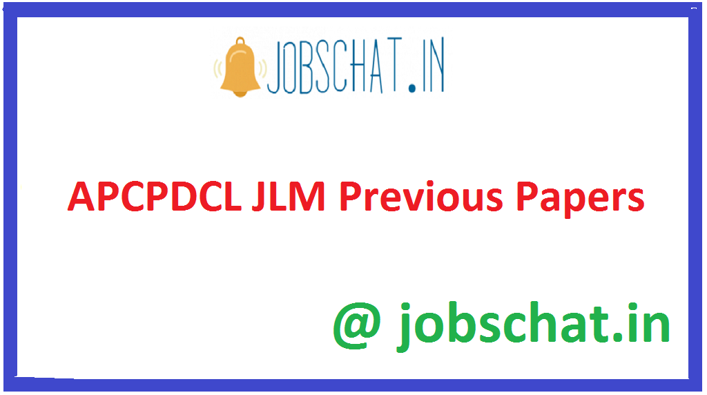 APCPDCL JLM Previous Papers