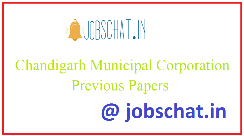 Chandigarh Municipal Corporation Previous Papers