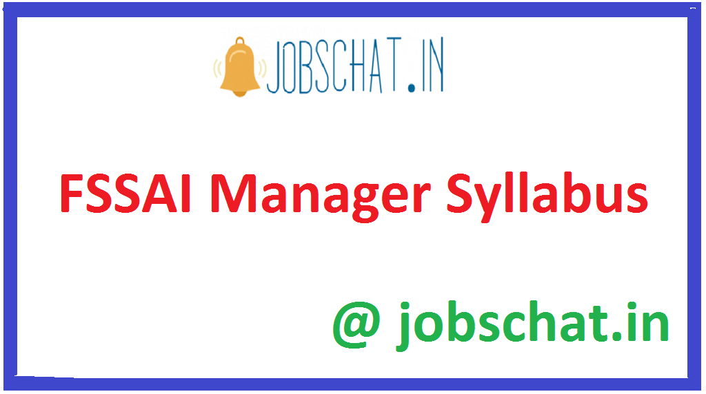 FSSAI Manager Syllabus 2021