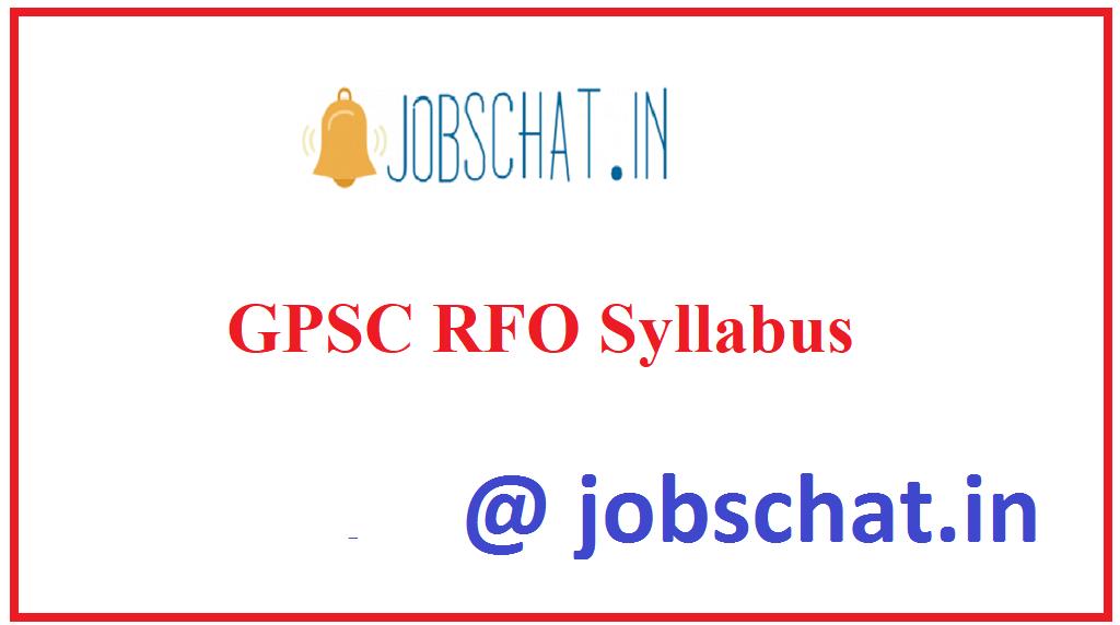 GPSC RFO Syllabus
