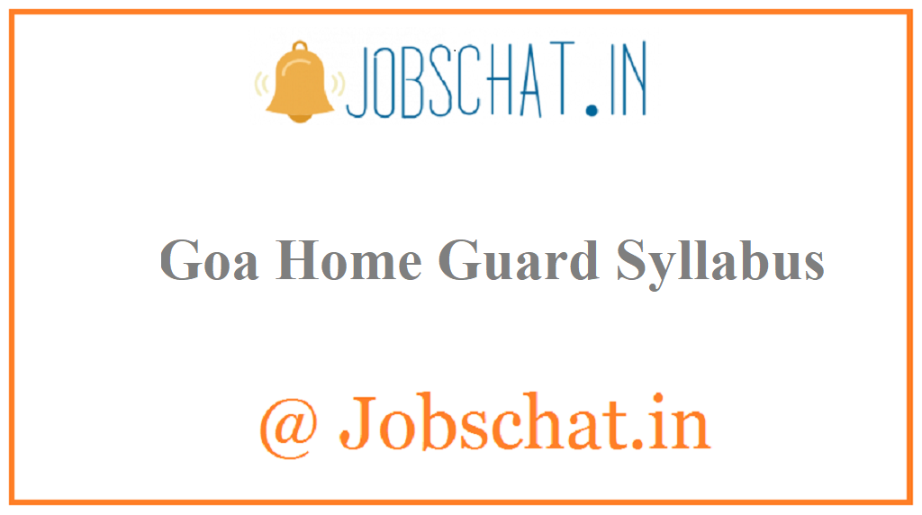 Goa Home Guard Syllabus