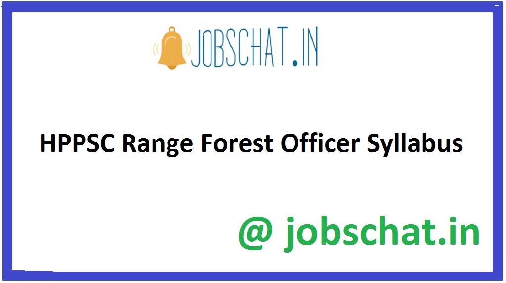 HPPSC Range Forest Officer Syllabus
