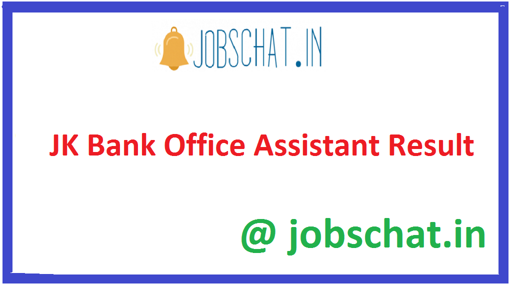 JK Bank Office Assistant Result