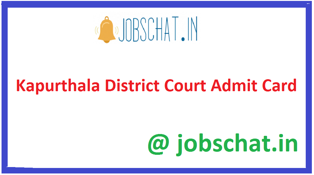 Kapurthala District Court Admit Card