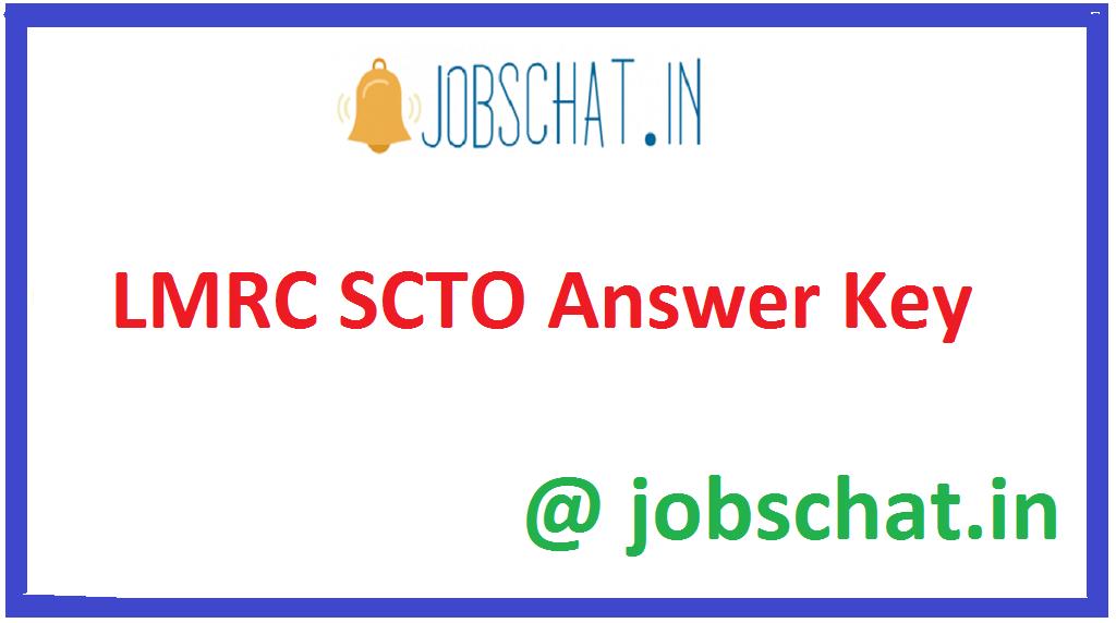LMRC SCTO Answer Key