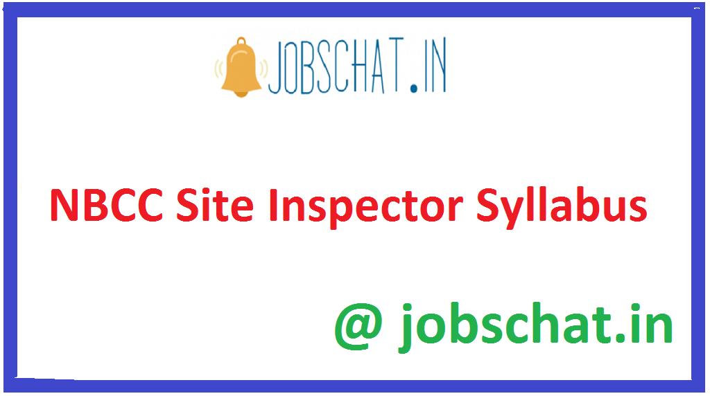 NBCC Site Inspector Syllabus