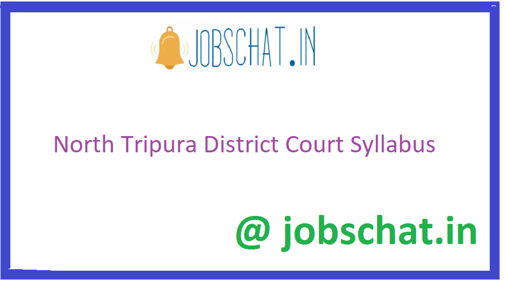 North Tripura District Court Syllabus