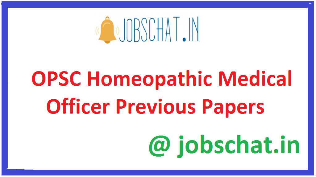 OPSC Homeopathic Medical Officer Previous Papers