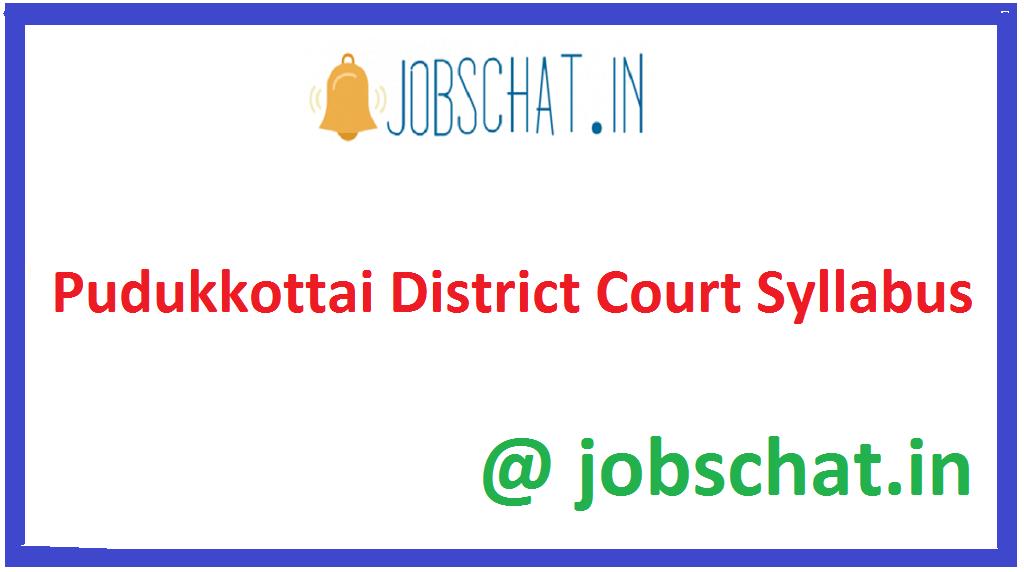 Pudukkottai District Court Syllabus