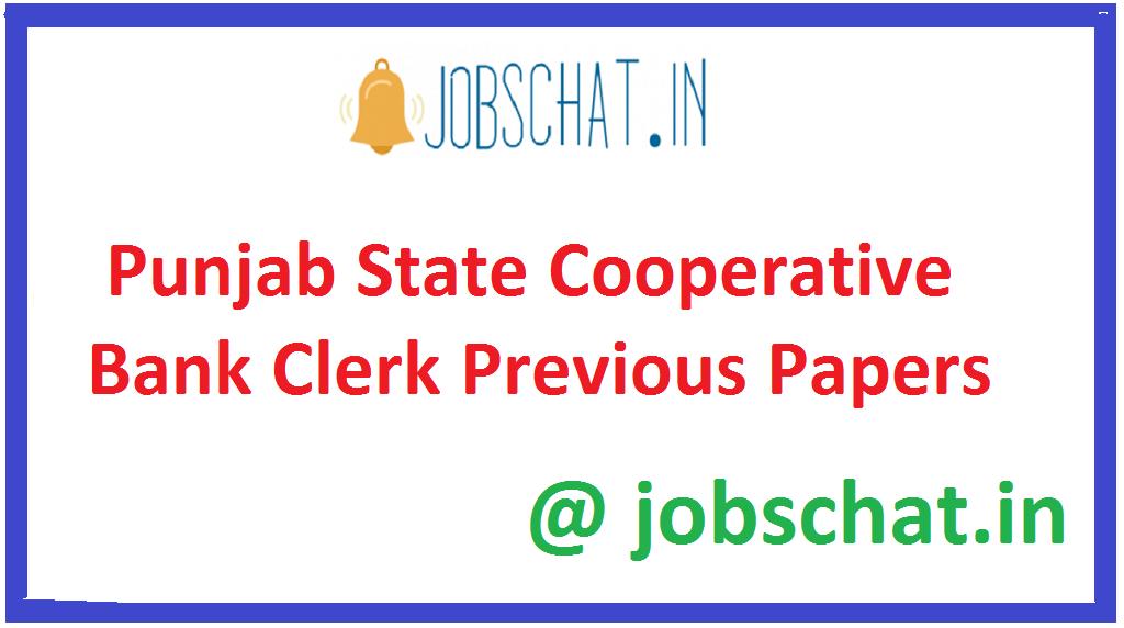 Punjab State Cooperative Bank Clerk Previous Papers