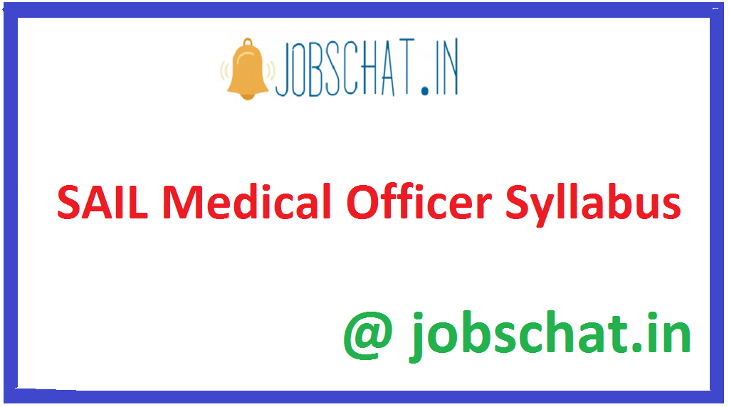 SAIL Medical Officer Syllabus