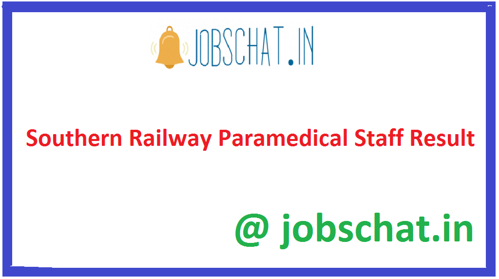 Southern Railway Paramedical Staff Result