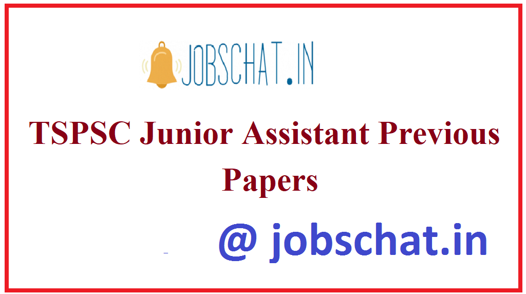 TSPSC Junior Assistant Previous Papers