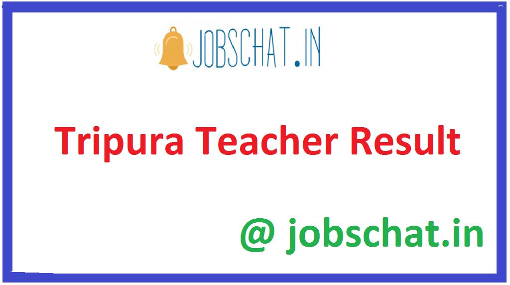 Tripura Teacher Result