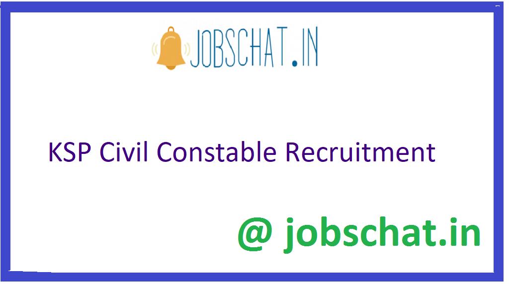 KSP Civil Constable Recruitment