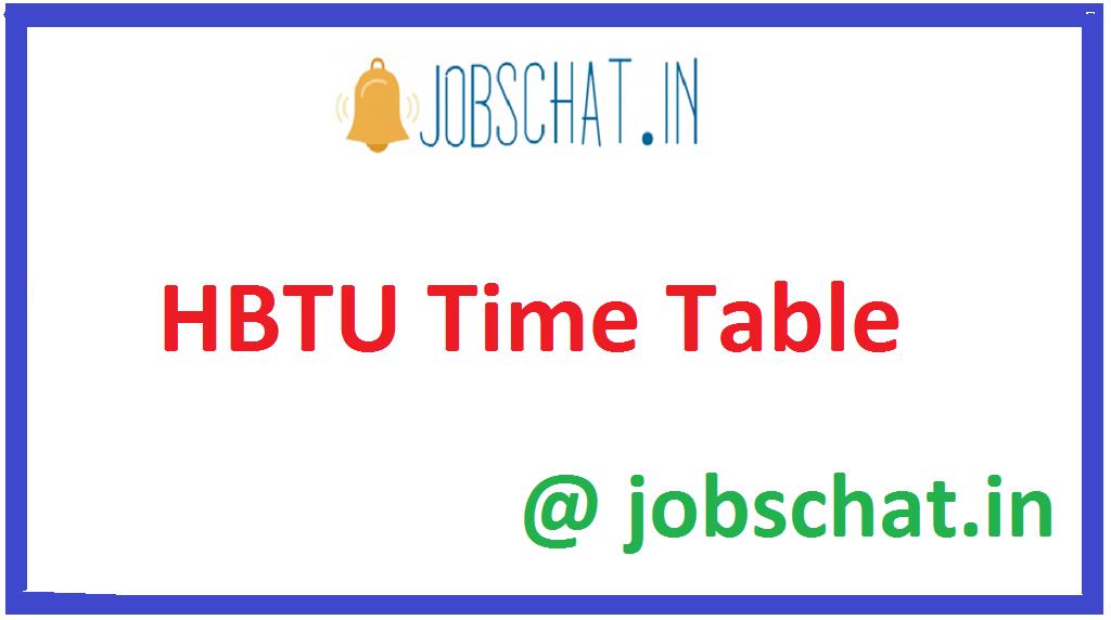 HBTU Time Table