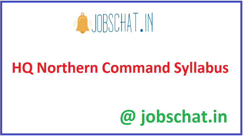 HQ Northern Command Syllabus
