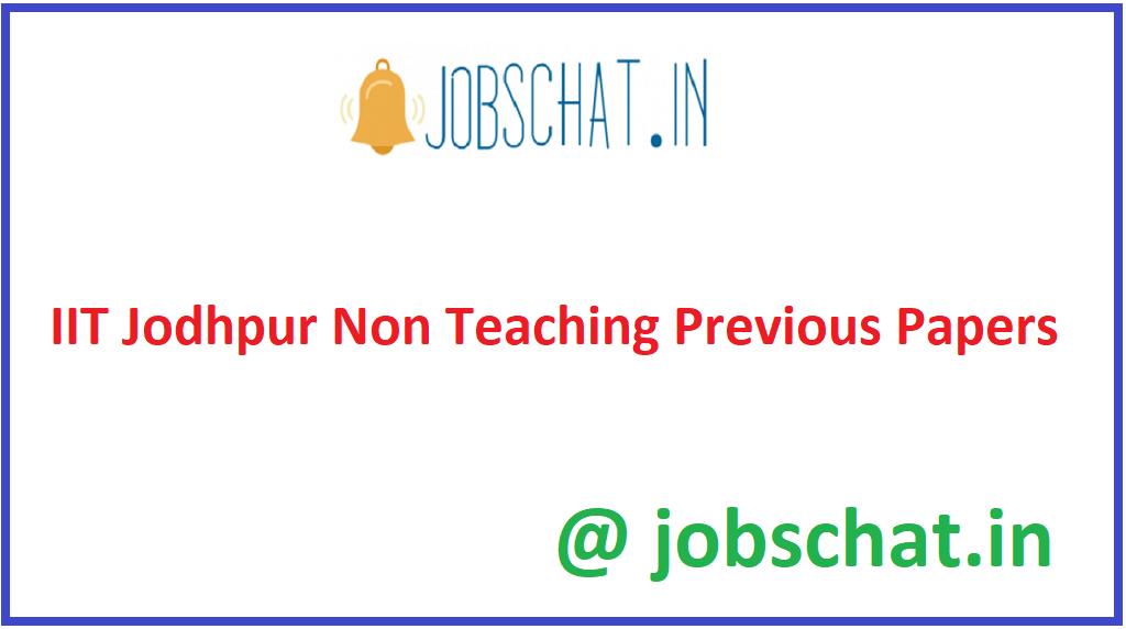 IIT Jodhpur Non Teaching Previous Papers