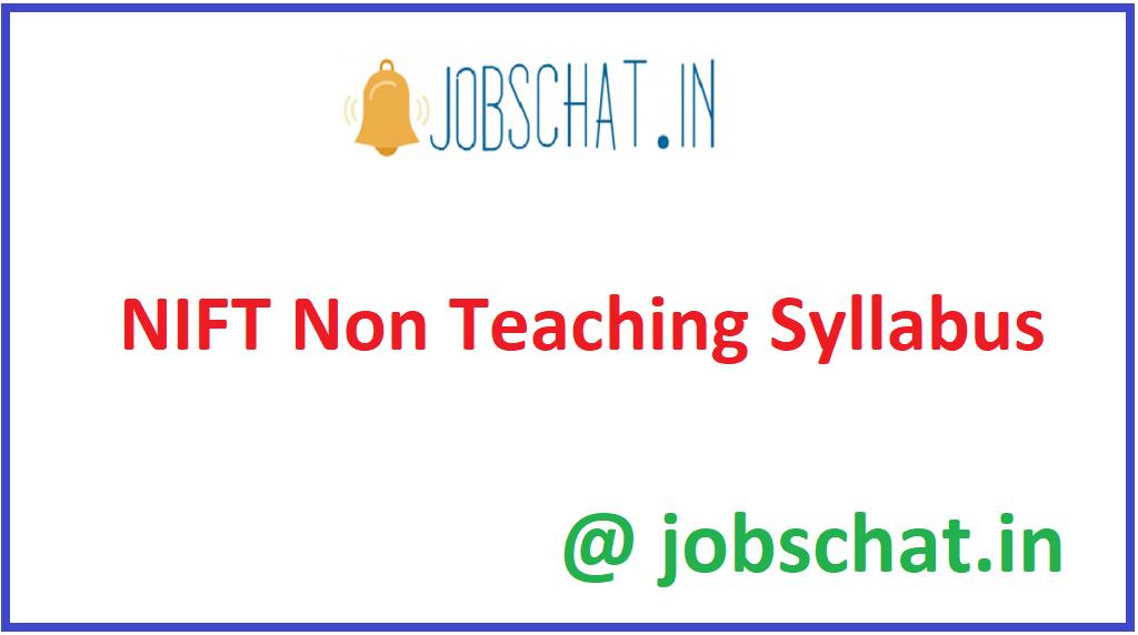 NIFT Non Teaching Syllabus