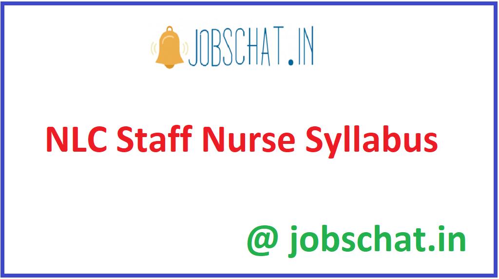 NLC Staff Nurse Syllabus