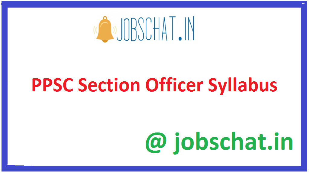 PPSC Section Officer Syllabus
